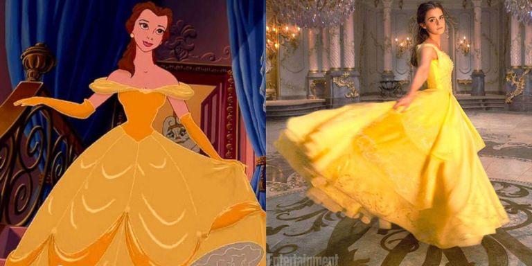How Belle's Iconic Yellow Dress Was Made for Emma Watson