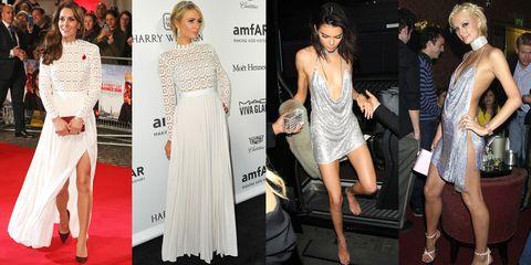 Clothing, Leg, Dress, Flooring, Shoulder, Outerwear, Formal wear, Style, Fashion accessory, Premiere,