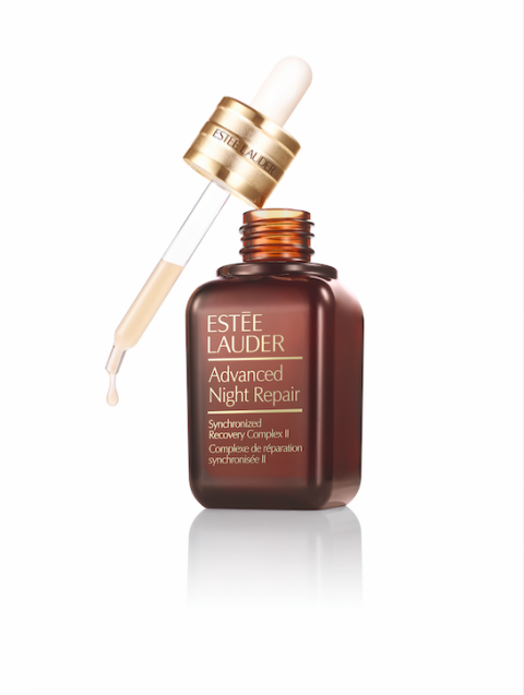 "<p>""I love Estée Lauder Advanced Night Repair, the serum. I always mix that in with my moisturizer. Even though the bottle says 'Night,' I still use it throughout the day so I get the benefits all the time."" </p>  <p><strong data-redactor-tag=""strong""></strong></p>  <p><strong data-redactor-tag=""strong"">Estée Lauder</strong> Advanced Night Repair Synchronized Recovery Complex II, $62, <strong data-redactor-tag=""strong""><a href=""https://www.esteelauder.com/product/681/26959/product-catalog/skincare/advanced-night-repair/synchronized-recovery-complex-ii"" target=""_blank"" data-tracking-id=""recirc-text-link"">esteelauder.com</a>.</strong></p>"