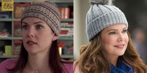 "<p>Beanie. Coffee. Gorgeous hair. Some things never change. Lauren's post-<em data-redactor-tag=""em"" data-verified=""redactor"">Gilmore</em> career has included <em data-redactor-tag=""em"" data-verified=""redactor"">Parenthood</em> and a <em data-redactor-tag=""em"" data-verified=""redactor"">New York Times</em> best seller, NBD.</p>"