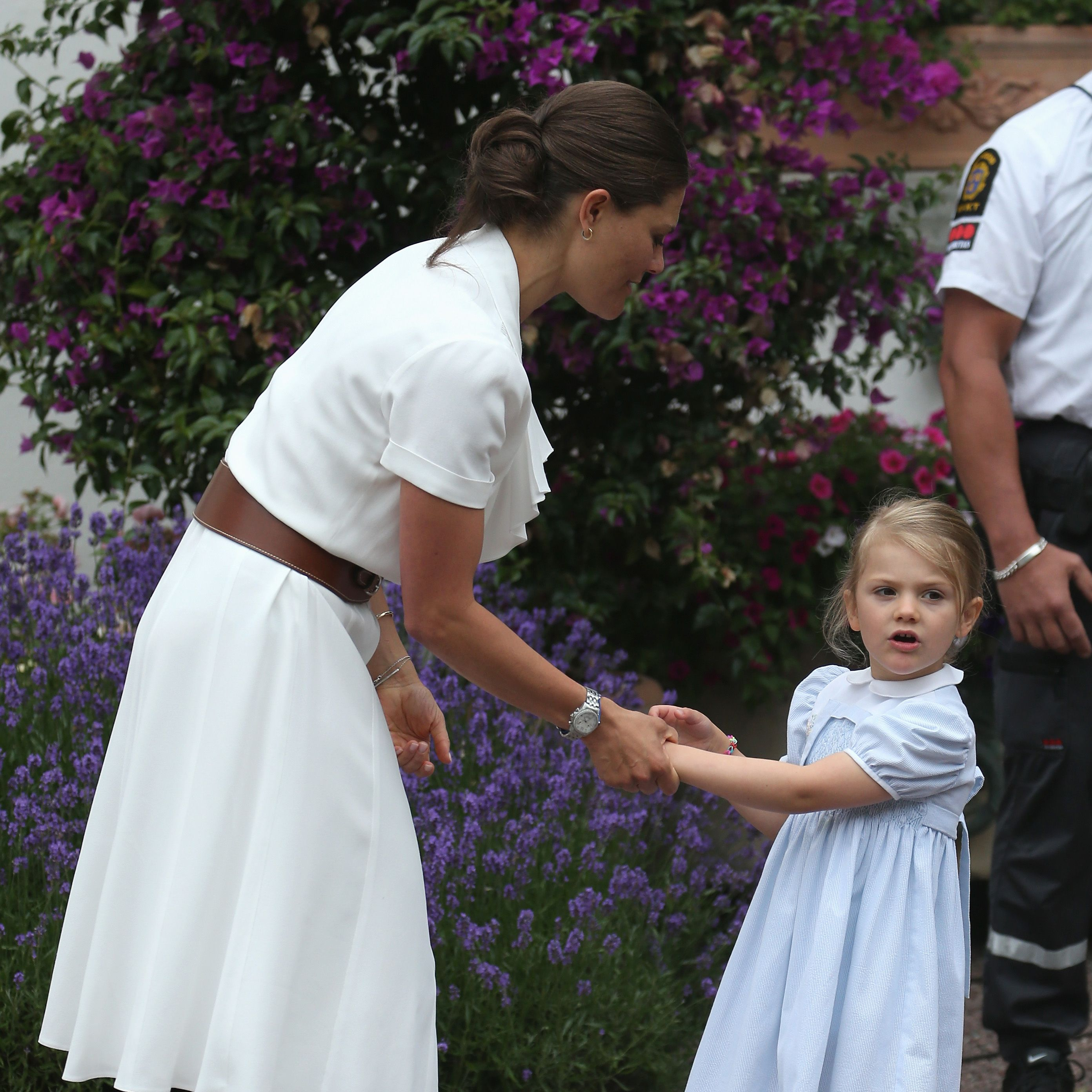 """<p>Princess Victoria is the eldest daughter of King Carl XVI Gustaf and&nbsp&#x3B;the heir apparent to the throne. The 39-year old is pictured here with her daughter, Princess Estelle, wearing&nbsp&#x3B;a summery dress by Ralph Lauren. <span class=""""redactor-invisible-space"""" data-verified=""""redactor"""" data-redactor-tag=""""span"""" data-redactor-class=""""redactor-invisible-space""""></span></p>"""