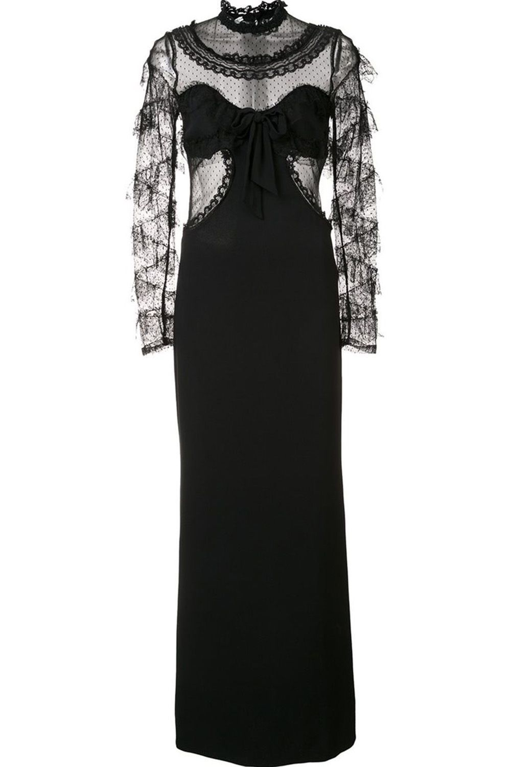 "<p>Fashionable and flattering, a long-sleeve lace black dress is perennially<span class=""redactor-invisible-space""></span><span class=""redactor-invisible-space""></span> pretty. </p><p><em data-redactor-tag=""em"" data-verified=""redactor"">Alessandra Rich dress, $1,965, <strong data-redactor-tag=""strong"" data-verified=""redactor""><a href=""https://shop.harpersbazaar.com/a/alessandra-rich/sheer-longsleeved-dress-10609.html"" target=""_blank"" data-tracking-id=""recirc-text-link"">shopBAZAAR.com.</a></strong></em> </p>"