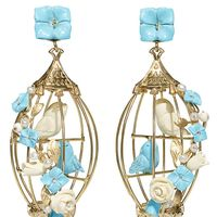 """<p><strong data-redactor-tag=""""strong"""" data-verified=""""redactor"""">Of Rare Origins</strong> earrings, $1,850, <a href=""""http://ofrareorigin.com/collections/the-lovebirds-collection/products/lovebirds?variant=10371037509"""" target=""""_blank"""" data-tracking-id=""""recirc-text-link"""">ofrareorigins.com</a>.&nbsp&#x3B;</p>"""