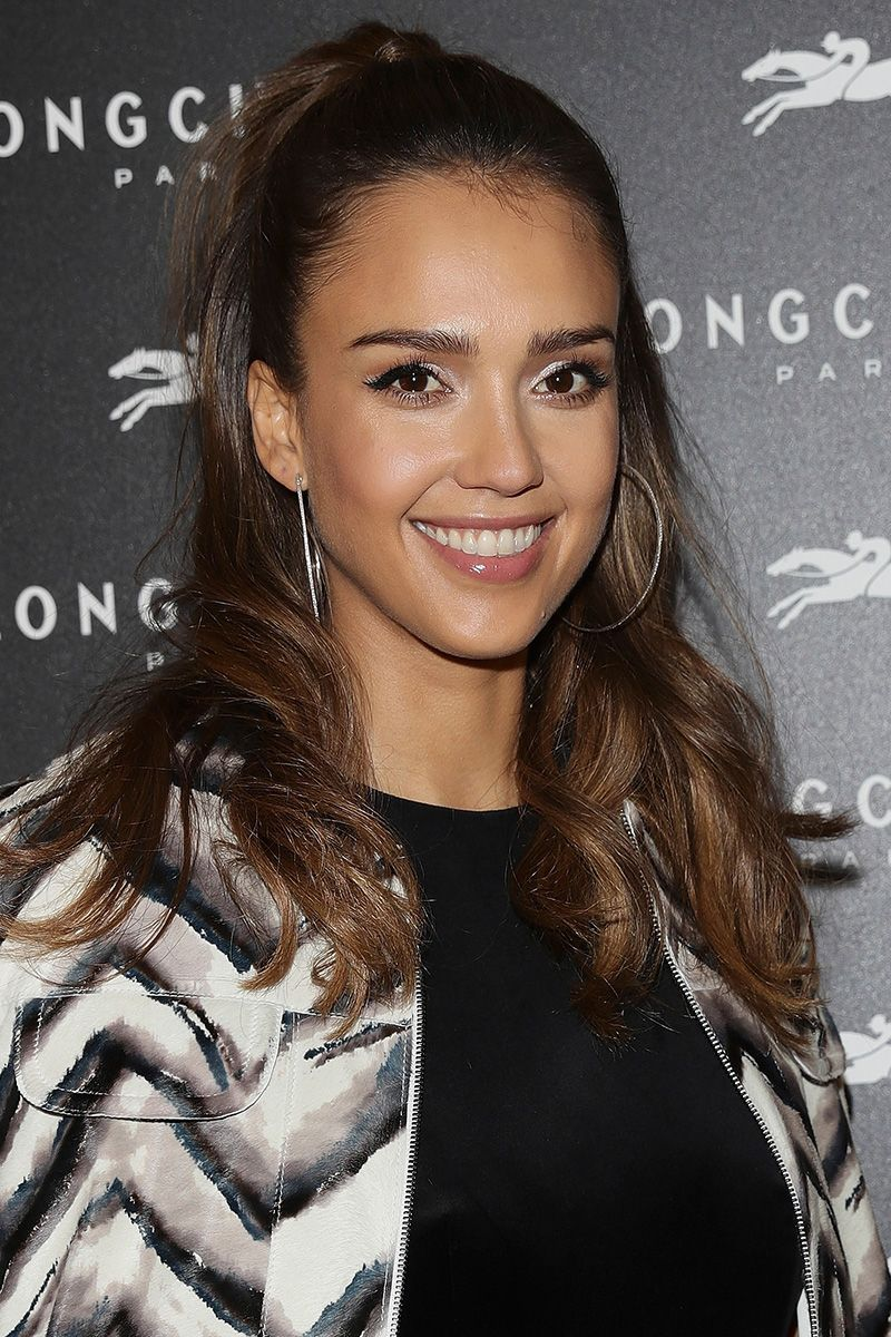 """<p>When you're blessed with an olive complexion, try incorporating honey tones into a brunette base as seen here on Jessica Alba.</p><p><span class=""""redactor-invisible-space"""" data-verified=""""redactor"""" data-redactor-tag=""""span"""" data-redactor-class=""""redactor-invisible-space""""></span></p>"""