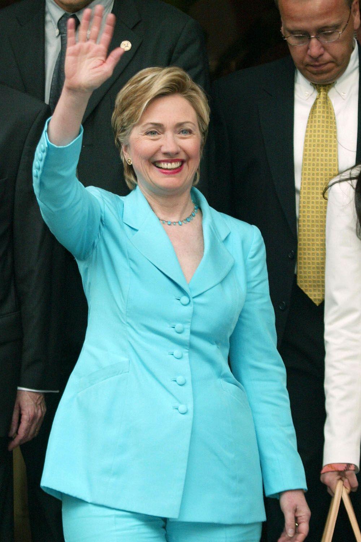 Hillary Clinton\'s Best Pantsuits - Clinton Rainbow Pant Suits