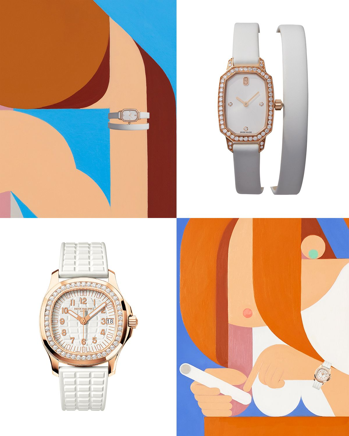"""<p>From top: <strong data-redactor-tag=""""strong"""" data-verified=""""redactor"""">Harry Winston Timepiece</strong>, price upon request, 212-399-1000; <strong data-redactor-tag=""""strong"""" data-verified=""""redactor"""">Patek Philippe</strong> watch, $44,220, <a href=""""http://www.patek.com/"""" target=""""_blank"""" data-tracking-id=""""recirc-text-link"""">patek.com</a>.</p>"""