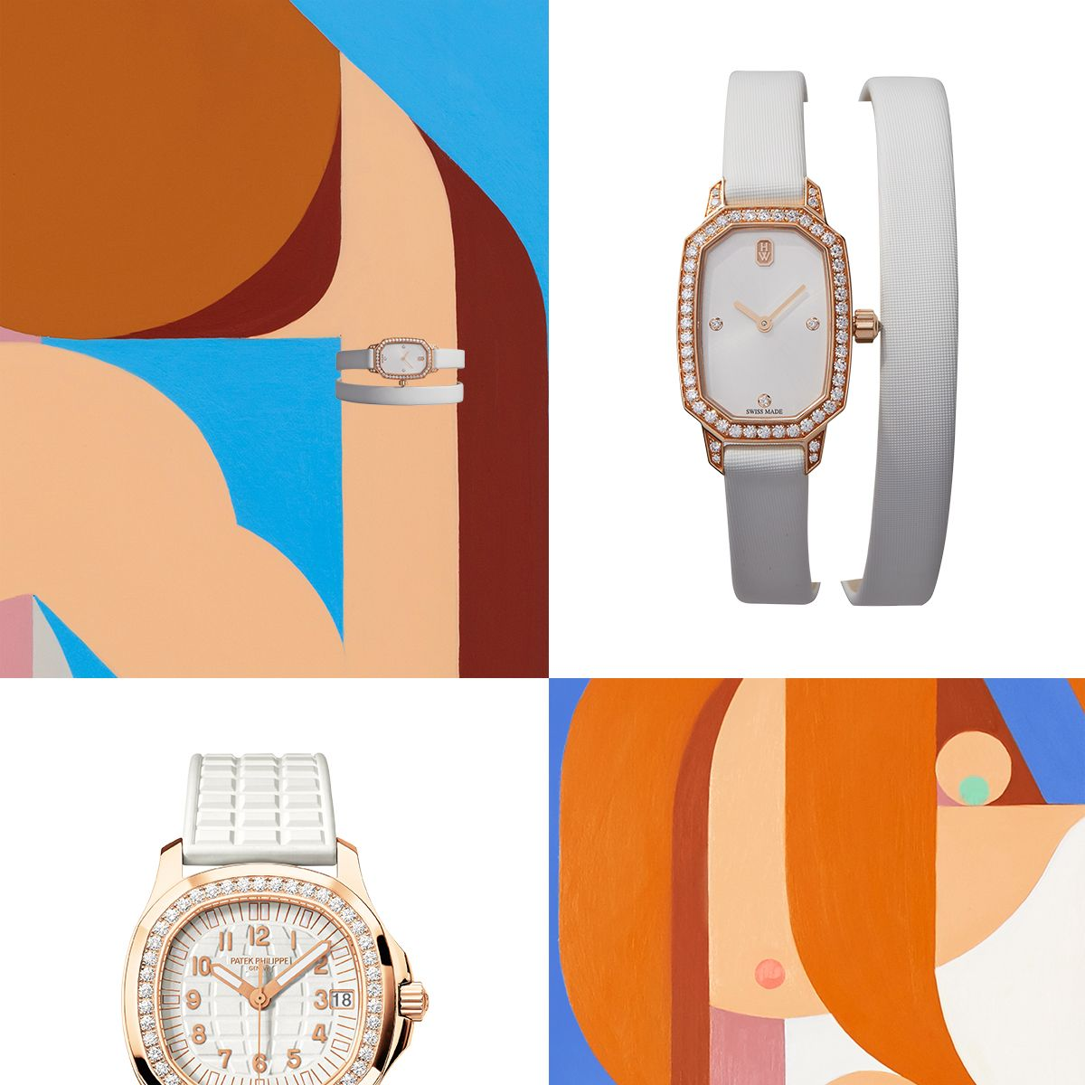 """<p>From top: <strong data-redactor-tag=""""strong"""" data-verified=""""redactor"""">Harry Winston Timepiece</strong>, price upon request, 212-399-1000&#x3B; <strong data-redactor-tag=""""strong"""" data-verified=""""redactor"""">Patek Philippe</strong> watch, $44,220, <a href=""""http://www.patek.com/"""" target=""""_blank"""" data-tracking-id=""""recirc-text-link"""">patek.com</a>.&nbsp&#x3B;</p>"""