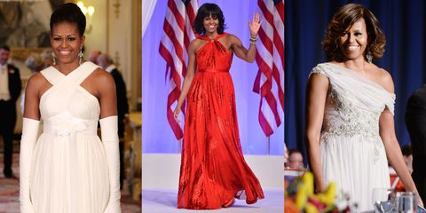 5f90523a55 Michelle Obama s 45 Best Formal Dresses and Gowns
