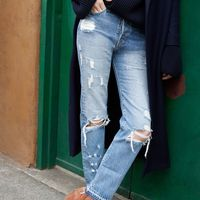 """<p><strong data-redactor-tag=""""strong"""" data-verified=""""redactor"""">Her Denim Philosophy:</strong> """"I'm a denim junkie and collector for decades—I have trunks full of jeans. My all-time favorite pair came from a denim picker  out of Durango, Colorado I've been working with my entire career. They're broken in to feel like you've worn them every day of your life, like a second skin. They directly inspired our 'Form' style, an ode to classic vintage rigid jeans."""" </p><p><em data-redactor-tag=""""em"""" data-verified=""""redactor"""">Ayr 'The Robe' Wool Jacket, $485, <a href=""""http://shop.nordstrom.com/s/ayr-the-robe-wool-jacket/4333148?&amp&#x3B;cm_mmc=Mindshare_Nordstrom-_-DecemberShoes-_-Hearst-_-proactive"""" data-tracking-id=""""recirc-text-link"""" target=""""_blank"""">nordstrom.com</a>&#x3B; Joseph 'Silk Stretch' Turtleneck, $320, <a href=""""http://www.joseph-fashion.com/en/ecomus/knitwear/silk-stretch-roll-neck-top/invt/w6283380701370"""" data-tracking-id=""""recirc-text-link"""" target=""""_blank"""">joseph-fashion.com</a>&#x3B; Ayr 'The Form' jeans, $275, <a href=""""https://www.ayr.com/products/the-form#19051002310"""" target=""""_blank"""" data-tracking-id=""""recirc-text-link"""">ayr.com</a>&#x3B; Halogen 'Cori' Bootie, $130, <a href=""""http://shop.nordstrom.com/s/halogen-cori-round-toe-bootie-women/4337266?&amp&#x3B;cm_mmc=Mindshare_Nordstrom-_-DecemberShoes-_-Hearst-_-proactive"""" target=""""_blank"""" data-tracking-id=""""recirc-text-link"""">nordstrom.com</a>.</em></p>"""