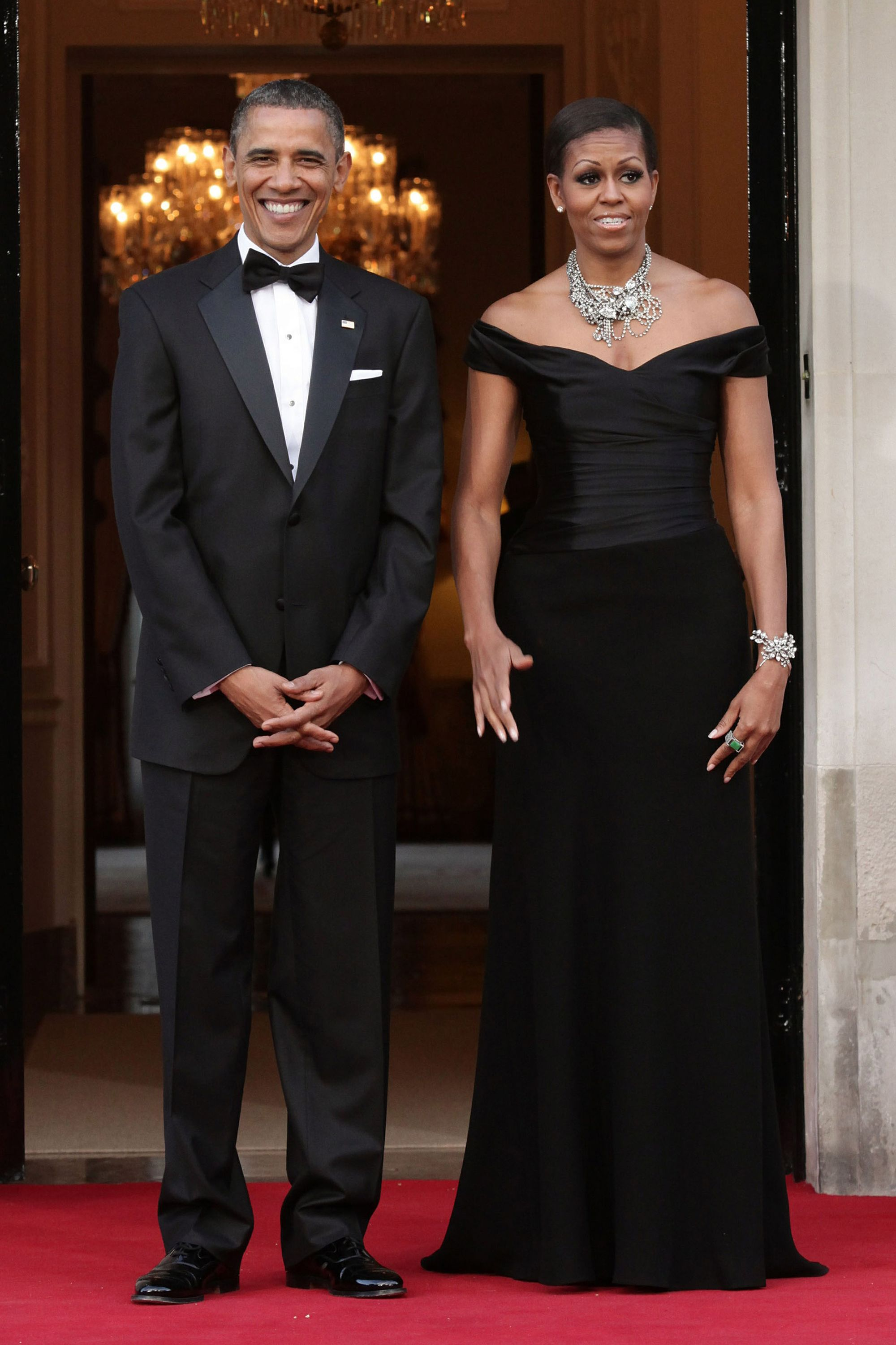 7cd893f935 Michelle Obama s 45 Best Formal Dresses and Gowns