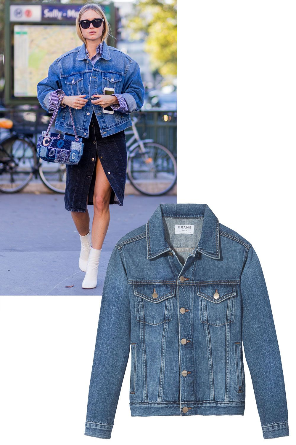 <p>Make like Pernille Teisbaek and wear the must-have layering piece oversized and with other denim pieces. </p>