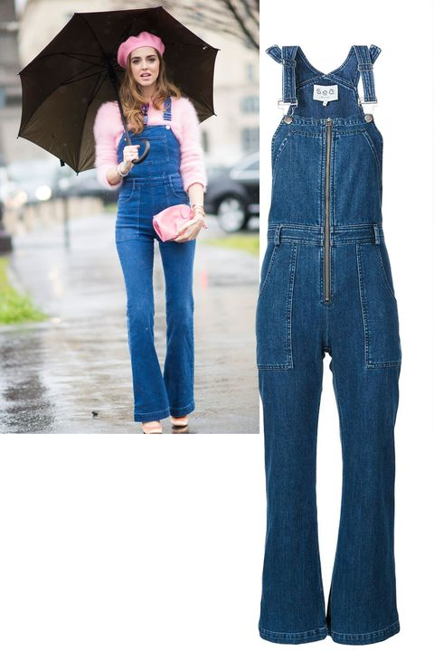 """<p> Chiara Ferragni gives a lesson in making overalls look grownup: pair with a chic sweater and polished extras. </p>  <p><em data-redactor-tag=""""em"""" data-verified=""""redactor"""">Sea overalls, $395, <strong data-redactor-tag=""""strong"""" data-verified=""""redactor""""><a href=""""https://shop.harpersbazaar.com/s/sea/denim-overalls-10430.html"""" target=""""_blank"""" data-tracking-id=""""recirc-text-link"""">shopBAZAAR.com</a></strong>.</em> </p>"""