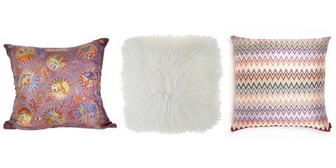 Textile, Cushion, Throw pillow, Linens, Pillow, Home accessories, Interior design, Rectangle, Creative arts, Household supply,