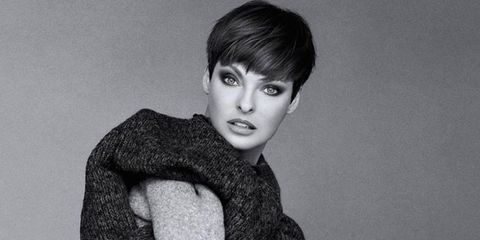 Lip, Eyebrow, Style, Eyelash, Jaw, Black hair, Monochrome, Sweater, Monochrome photography, Woolen,