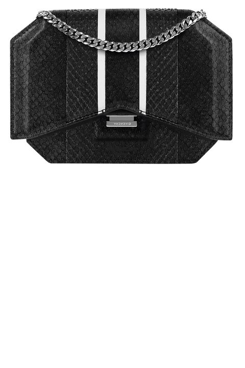 "<p><strong data-redactor-tag=""strong"" data-verified=""redactor"">Givenchy by Riccardo Tisci</strong> clutch, $2,190, similar styles available at 212-650-0180. </p>"