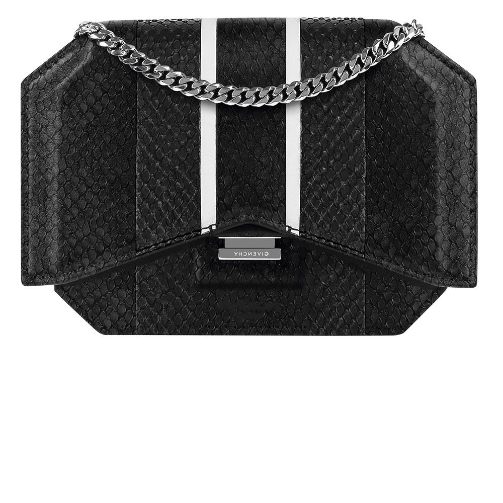 """<p><strong data-redactor-tag=""""strong"""" data-verified=""""redactor"""">Givenchy by Riccardo Tisci</strong> clutch, $2,190, similar styles available at 212-650-0180. </p>"""
