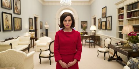 "<p>Go inside the horror of the period following John F. Kennedy's assassination through the eyes of his grieving widow, Jackie (Natalie Portman) in this highly-anticipated biopic. </p>  <p>Watch the trailer <a href=""https://www.youtube.com/watch?v=pZTXv5NpgaI"" target=""_blank"" data-tracking-id=""recirc-text-link"">here</a>.</p>"