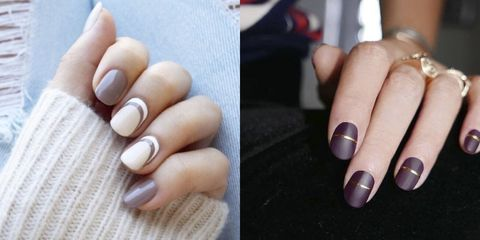 The pick-me-up polish combinations to beat the cold-weather blues. - 15 Cute Winter Nail Art Ideas - Best Nail Designs For Winter 2016-2017