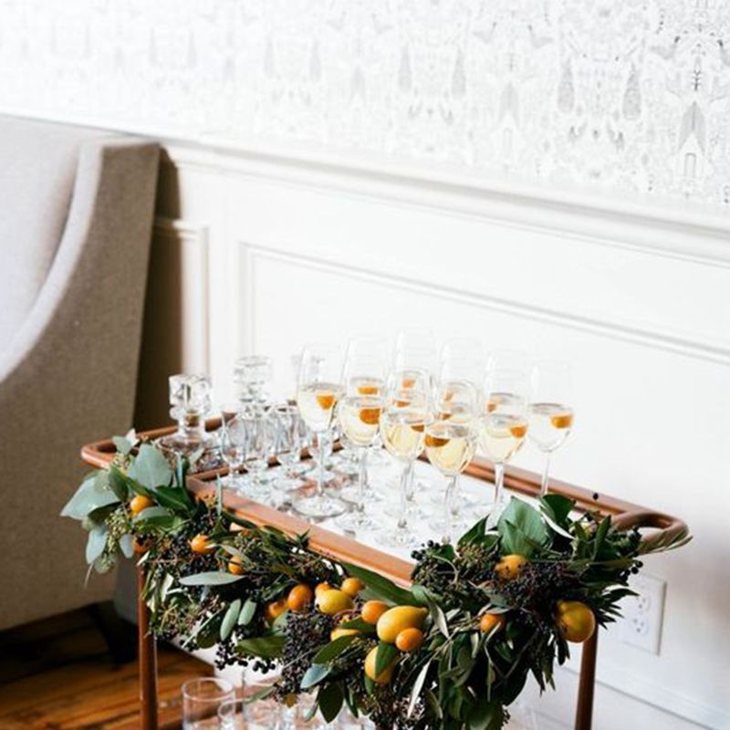 <p>Your spirits will taste that much better getting shaken up atop a festive bar cart. </p>