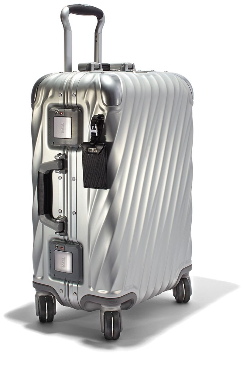 """<p>""""One of my favorite things about Tumi luggage is that it gets more attractive with age—the character of my suitcase develops as my passport collects stamps,"""" says E-Commerce Director, Katie Hobbs. </p><p><em data-redactor-tag=""""em"""" data-verified=""""redactor"""">Tumi luggage, $995, <strong data-redactor-tag=""""strong"""" data-verified=""""redactor""""><a href=""""https://shop.harpersbazaar.com/designers/tumi/19-degree-aluminum-10868.html"""" target=""""_blank"""" data-tracking-id=""""recirc-text-link"""">shopBAZAAR.com</a></strong>.</em> </p>"""