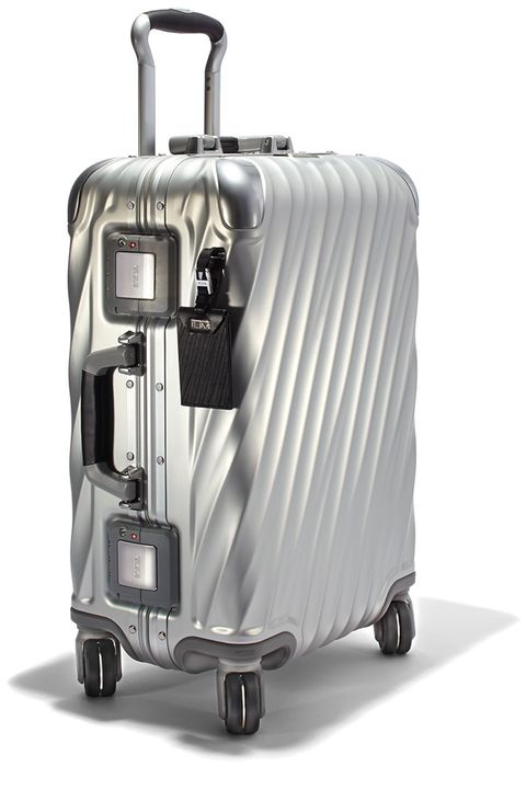 "<p>""One of my favorite things about Tumi luggage is that it gets more attractive with age—the character of my suitcase develops as my passport collects stamps,"" says E-Commerce Director, Katie Hobbs. </p>  <p><em data-redactor-tag=""em"" data-verified=""redactor"">Tumi luggage, $995, <strong data-redactor-tag=""strong"" data-verified=""redactor""><a href=""https://shop.harpersbazaar.com/designers/tumi/19-degree-aluminum-10868.html"" target=""_blank"" data-tracking-id=""recirc-text-link"">shopBAZAAR.com</a></strong>.</em> </p>"