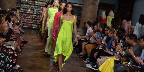 Human body, Event, Fashion show, Fashion, Black hair, Runway, Fashion model, One-piece garment, Fashion design, Waist,