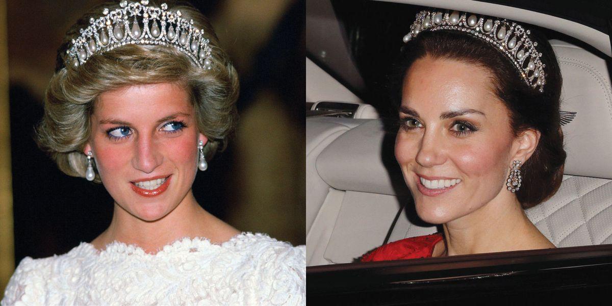 See How Kate Middleton Wore Princess Diana's Tiara