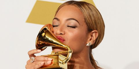 """<p>          On Tuesday, December 6, Beyoncé was crowned Grammy nomination queen, leading the competition with nine nominations. Adele, Drake and Kanye West followed Bey with eight. Beyoncé <a href=""""http://www.billboard.com/articles/events/grammys-2015/6363698/beyonce-most-grammy-nominated-woman"""" target=""""_blank"""" data-tracking-id=""""recirc-text-link"""" data-external=""""true"""">remains</a> the most nominated female artist in Grammy history.   </p>"""
