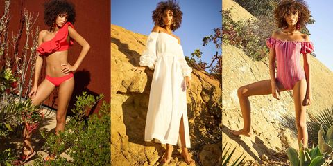 Clothing, Dress, People in nature, Summer, Waist, Beauty, Day dress, Undergarment, Thigh, One-piece garment,