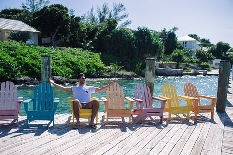 Furniture, Leisure, Outdoor furniture, Chair, Deck, Vacation, Resort, Outdoor structure, Garden, Outdoor table,