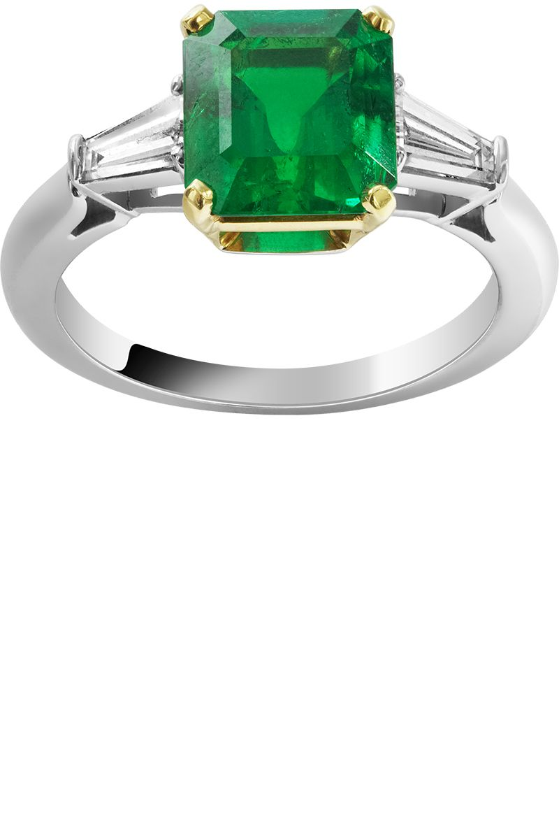 gold ring product gemstone white rings paragon and si h diamond image engagement emerald