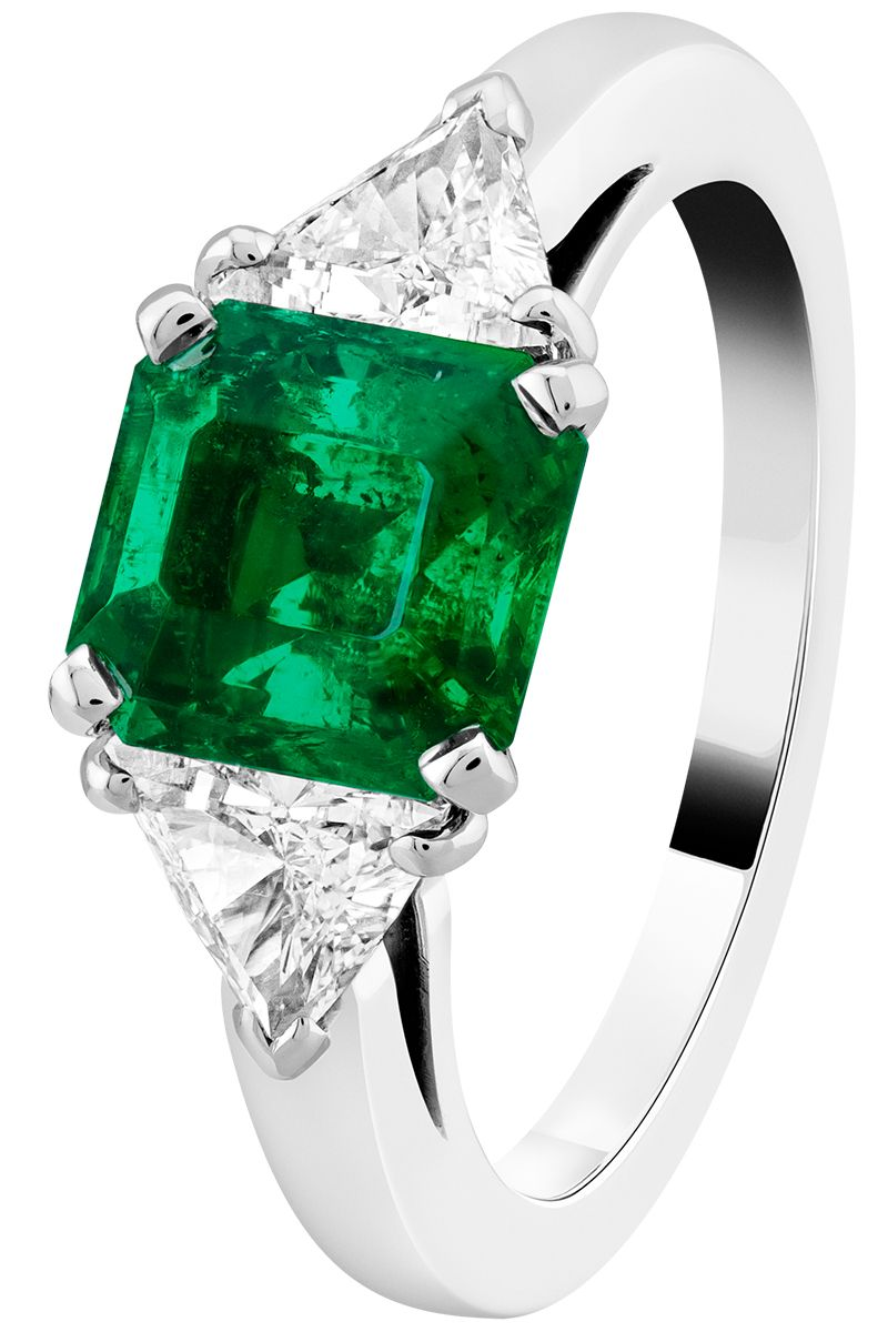 by emerald shop gemstone stone halo trapeze cut rings octagon product ring diamond