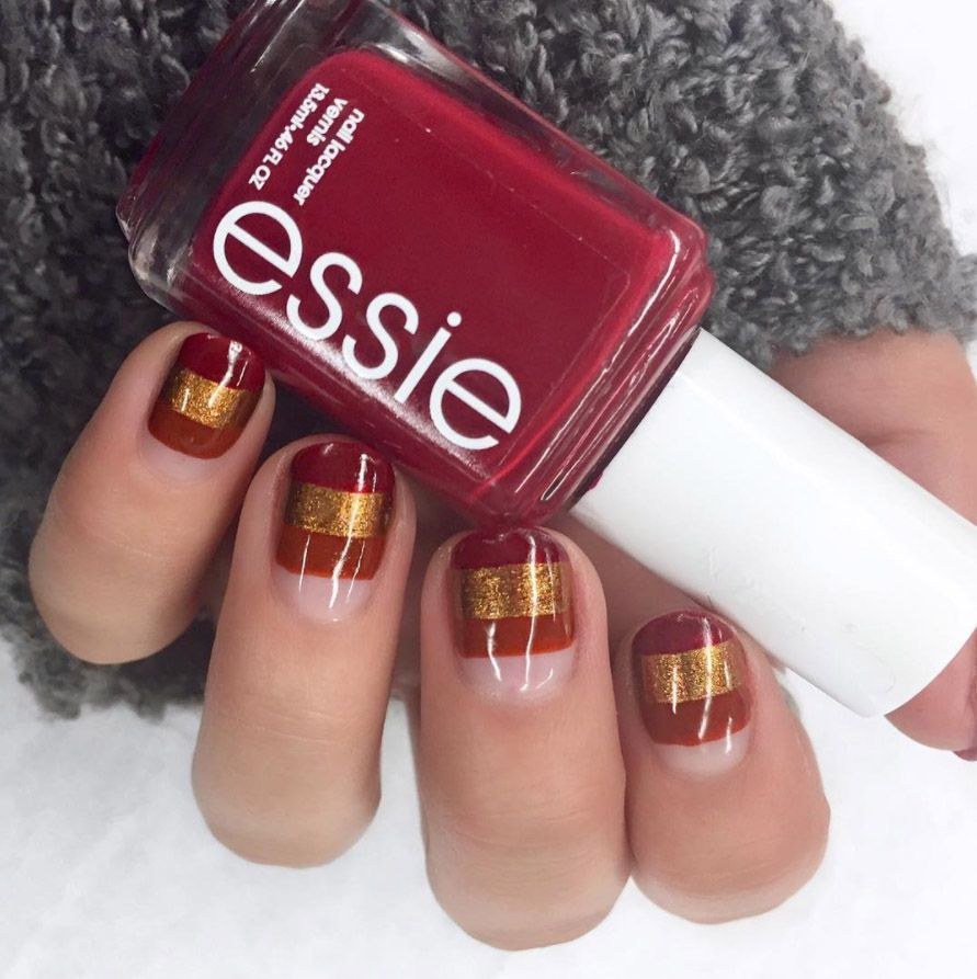 15 red nail art designs cute nail ideas for a red manicure prinsesfo Choice Image