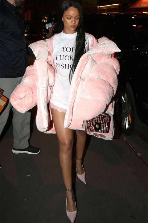 b0d42ba0b71 <p>Rihanna's jacket by Ella Boucht ispuffiest puffer of them all.