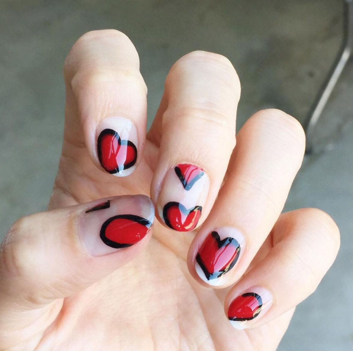 Nail art designs with hearts best nails art ideas prinsesfo Choice Image