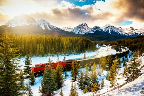 "<p><span>You may have jokingly (or perhaps, literally) considered a&nbsp;move here as of late–but as it turns out, there are many reasons to escape to the Great White North. The country celebrates its 150</span><sup data-redactor-tag=""sup"">th</sup><span> birthday this year, and is full of exciting perks as a result. Montréal (which turns 375 this year) is flexing its muscles as one of the world's most exciting culinary scenes, influenced by its European roots and infused with flavors from its diverse, multi-cultural&nbsp;population. Don't miss out on a visit to <a href=""http://www.lefilet.ca/en/"" target=""_blank"" data-tracking-id=""recirc-text-link"">Le Filet</a> or <a href=""http://www.les400coups.ca/"" target=""_blank"" data-tracking-id=""recirc-text-link"">Les 400 Coups</a> while you're in town, and look out for Marconi and Joël Robuchon<span class=""redactor-invisible-space""></span>'s new Canadian outpost that are both set to open this year. If you're more of a nature lover, head to Banff for one of the most epic bike trails you'll ever ride. Before you venture out, be sure to pick up a <a href=""http://www.commandesparcs-parksorders.ca/webapp/wcs/stores/servlet/en/parksb2c"" target=""_blank"" data-tracking-id=""recirc-text-link"">Discovery Pass</a>, which gives visitors free access to any of the vast country's national parks (there are over 200 of them!) including Banff and Prince Edward Island. If it's art you're after, Toronto's <a href=""http://museumofcontemporaryart.ca/"" target=""_blank"" data-tracking-id=""recirc-text-link"">Museum of Contemporary Art</a> will open the doors to its expanded location this year, along with the unveiling of <a href=""http://www.thebentway.ca/"" target=""_blank"" data-tracking-id=""recirc-text-link"">The Bentway</a>, their answer to Manhattan's <a href=""http://www.thehighline.org/"" target=""_blank"" data-tracking-id=""recirc-text-link"">High Line</a>.</span></p><p><strong data-redactor-tag=""strong""> Where to Stay</strong>: <a href=""http://www.fairmont.com/destinations/"" target=""_blank"" data-tracking-id=""recirc-text-link"">Fairmont</a> boasts 18 hotels across the country with one soon to open in Montréal,&nbsp;and each is more impressive than the next. Montréal&nbsp;<span class=""redactor-invisible-space""></span>is home to a <a href=""http://www.ritzcarlton.com/en/hotels/canada/montreal"" target=""_blank"" data-tracking-id=""recirc-text-link"">Ritz Carlton</a>&nbsp;as well as <a href=""http://www.hotellestjames.com/"" target=""_blank"" data-tracking-id=""recirc-text-link"">Hotel Le St. James</a> and the <a href=""https://hotelstpaul.com/en/"" target=""_blank"" data-tracking-id=""recirc-text-link"">St. Paul Hotel</a>, which are both boutique in size, but the former boasts a grander feel while the latter is sleek and contemporary. In Toronto, the <a href=""https://toronto.park.hyatt.com/en/hotel/home.html"" target=""_blank"" data-tracking-id=""recirc-text-link"">Park Hyatt</a>, <a href=""http://www.fourseasons.com/toronto/"" target=""_blank"" data-tracking-id=""recirc-text-link"">Four Seasons</a> and <a href=""http://www.shangri-la.com/toronto/shangrila/"" target=""_blank"" data-tracking-id=""recirc-text-link"">Shangri-La</a> are pretty much foolproof.</p>  <p><strong data-redactor-tag=""strong"">When to Go</strong>: Summertime promises the best climate to comfortably explore and enjoy the outdoors. Fall's vibrant colors will amaze you, and its balmy temperatures may be your preference for hiking and biking. Early September is for art lovers–that's when the <a href=""http://www.tiff.net/"" target=""_blank"" data-tracking-id=""recirc-text-link"">Toronto International Film Festival</a> takes place. The dead of winter and springtime will likely be too cold for most, but those who are open to braving borderline negative temperatures will no doubt enjoy cozying up in Montréal's chicest dining spots and cocktail lounges.</p>"