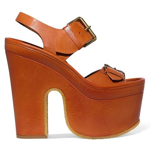Brown, Orange, Tan, Sandal, Leather, Beige, Liver, High heels, Fawn, Strap,