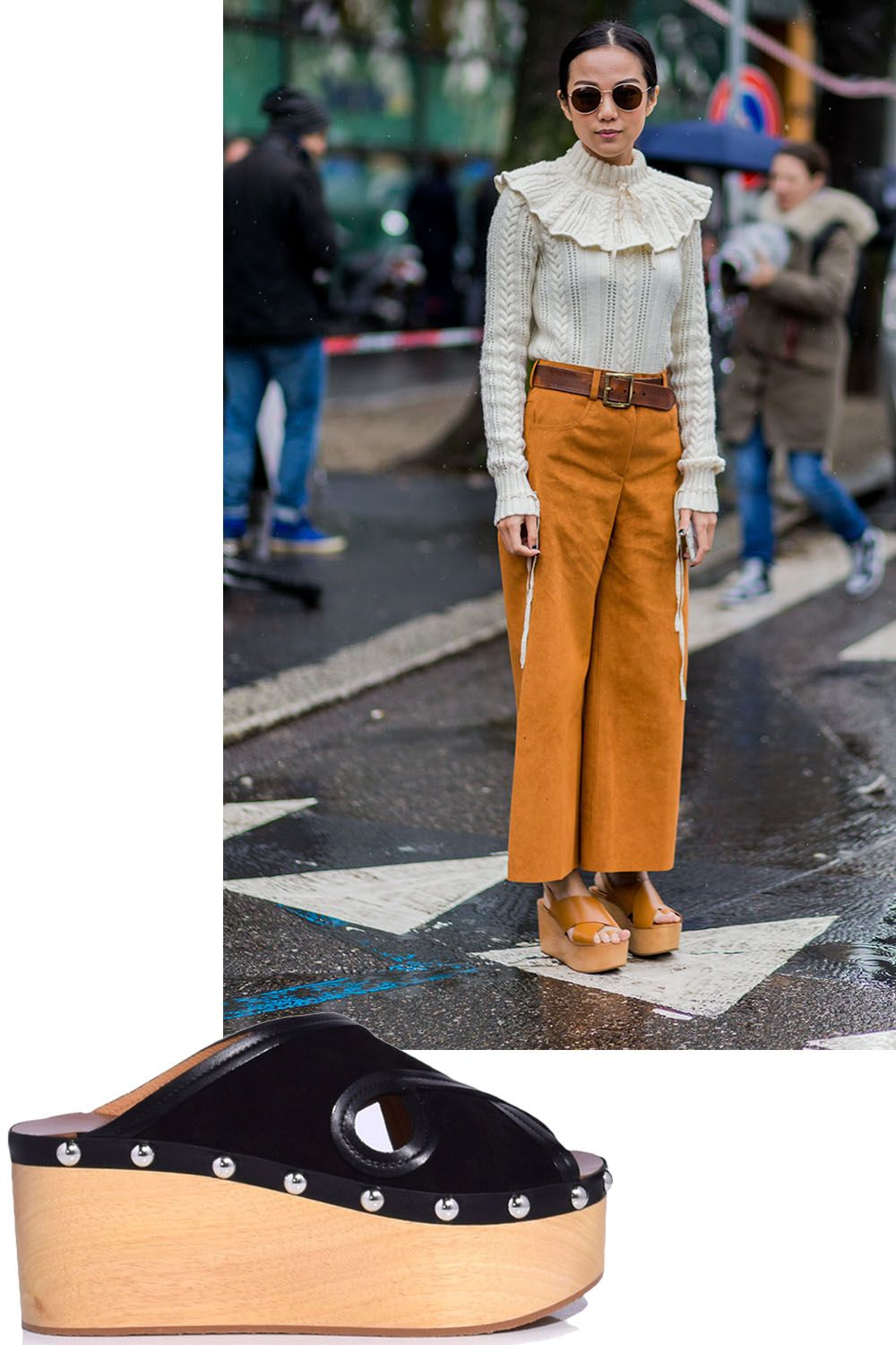 "<p>Pair with socks now, and a pedicure later. </p><p><em data-verified=""redactor"" data-redactor-tag=""em"">Isabel Marant shoes, $560, <a href=""https://shop.harpersbazaar.com/designers/isabel-marant/zipla-clog-slide-in-black-11307.html"" data-tracking-id=""recirc-text-link"">shopBAZAAR.com</a>. </em></p>"