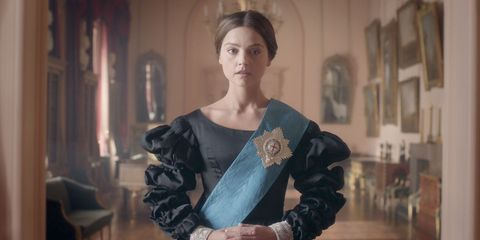 """<p>Costume drama lovers will get their fill with&nbsp;<em data-verified=""""redactor"""" data-redactor-tag=""""em"""">Victoria</em><span class=""""redactor-invisible-space"""">, which chronicles the early days of Queen Victoria's reign. Jenna Coleman plays the 19-year-old monarch, with Rufus Sewell as her closest advisor, Lord Melbourne.</span><em data-verified=""""redactor"""" data-redactor-tag=""""em""""></em></p><p><em data-verified=""""redactor"""" data-redactor-tag=""""em""""><strong data-verified=""""redactor"""" data-redactor-tag=""""strong"""">Premieres Sunday, January 15 at 9 PM&nbsp;on PBS</strong></em><span class=""""redactor-invisible-space""""><strong data-verified=""""redactor"""" data-redactor-tag=""""strong""""><em data-verified=""""redactor"""" data-redactor-tag=""""em"""">.</em></strong></span><br></p>"""
