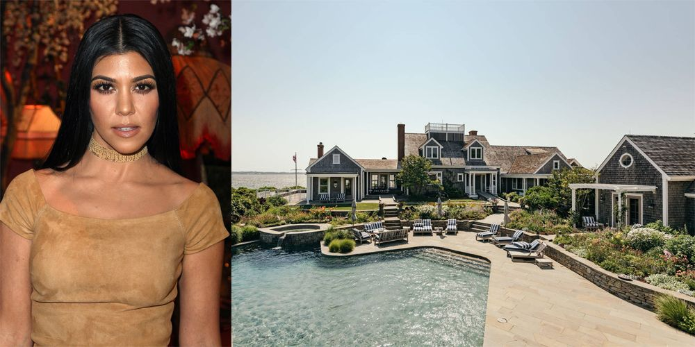 """<p>Sometimes, you need a vacation from a vacation. After celebrating daughter Penelope's fourth birthday in the Bahamas, Kourtney Kardashian headed to this luxe Nantucket <a href=""""https://www.airbnb.com/rooms/13896701"""" target=""""_blank"""">rental</a>  – ex Scott Disick in tow. The $6,628 per night Airbnb boasts access to a private beach, pool, and in-home theater.</p>"""