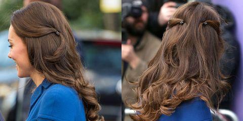 Hairstyle, Mammal, Long hair, Brown hair, Street fashion, Electric blue, Blond, Hair coloring, Back, Feathered hair,