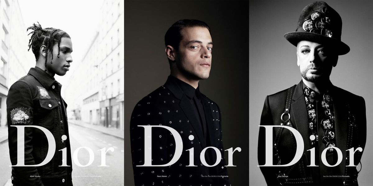 Boy George A Ap Rocky And Rami Malek In Dior Homme Spring