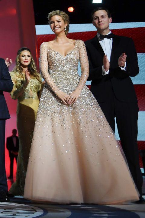 Ivanka Trump Wears Champagne Carolina Herrera Dress to Inauguration ...