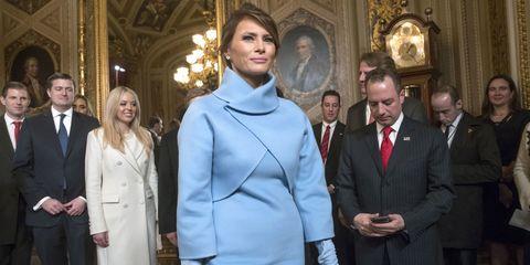 3b48ac8a7ae34 Melania Trump Inauguration Day Outfit Meaning - Why Melania Trump ...
