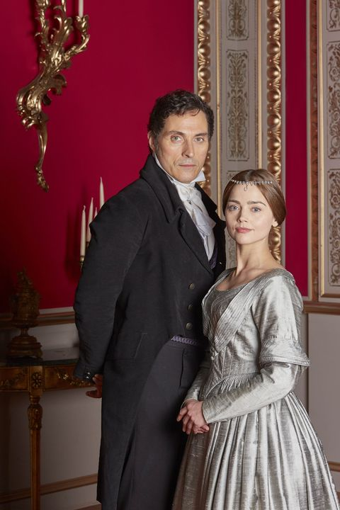 With co-star Jenna Coleman (Queen Victoria)
