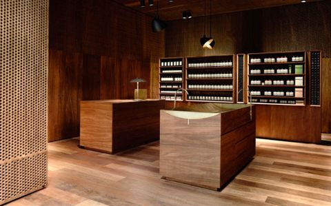 "<p>A name now globally recognized and synonymous with chic soaps and lotions, <a href=""https://www.aesop.com/au/"" target=""_blank"" data-tracking-id=""recirc-text-link"">Aesop</a> was first established in Melbourne in 1987. Although the original Melbourne store no longer exists, there are several stores (eleven, not including department store counters or stockists) across Melbourne and each offer an unrivaled design experience in addition to their quality products. Aesop's design philosophy draws&nbsp;inspiration from the history and character of each individual store. Melbourne's Flinders Lane outpost (our favorite)&nbsp;was recently redesigned to feature a bold, curved wall made from over 1550 cardboard sheets. With a consistently cool and clean aesthetic, together with their impeccable service and beautiful fragrances, the Aesop shopping experience is always a treat.&nbsp;<span class=""redactor-invisible-space"" data-verified=""redactor"" data-redactor-tag=""span"" data-redactor-class=""redactor-invisible-space""></span></p>"