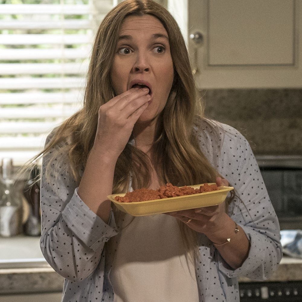 """<p>Drew Barrymore's long-mysterious Netflix comedy unveiled its cheerfully grisly premise recently: Barrymore plays a suburban soccer mom whose unusual eating habits cause some disruption within her cozy family life. (Spoiler: She's a zombie, but prefers not to use that term.)&nbsp&#x3B;<span class=""""redactor-invisible-space"""" data-verified=""""redactor"""" data-redactor-tag=""""span"""" data-redactor-class=""""redactor-invisible-space""""></span></p><p><em data-verified=""""redactor"""" data-redactor-tag=""""em"""">Santa Clarita Diet</em><span class=""""redactor-invisible-space""""> premieres Friday,&nbsp&#x3B;February 3&nbsp&#x3B;with 13 episodes&nbsp&#x3B;on&nbsp&#x3B;Netflix<span class=""""redactor-invisible-space"""">.</span></span><br></p>"""