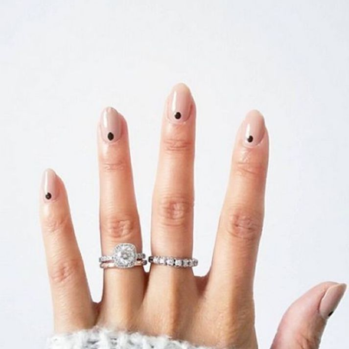 """<p>Manicure minimalists: a petite dot at the base of the nail is easiest way to experiment with nail art.</p><p><a href=""""https://www.instagram.com/p/BBfl2U9w4EV/?taken-by=deborahlippmann""""></a><a href=""""https://www.instagram.com/p/BBfl2U9w4EV/?taken-by=deborahlippmann""""></a><em data-redactor-tag=""""em"""" data-verified=""""redactor""""><a href=""""https://www.instagram.com/p/BBfl2U9w4EV/?taken-by=deborahlippmann"""" target=""""_blank"""" data-tracking-id=""""recirc-text-link"""">@deborahlippmann</a></em></p>"""