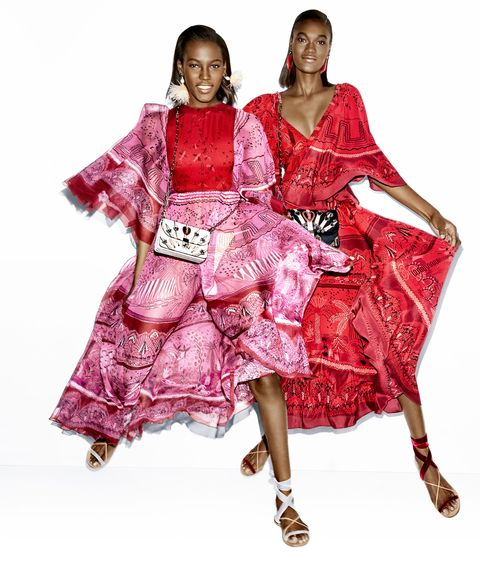 "<p>On Kai (left):&nbsp;<strong data-redactor-tag=""strong"" data-verified=""redactor"">Valentino</strong> dress, $5,900;&nbsp;<strong data-redactor-tag=""strong"" data-verified=""redactor"">Valentino Garavani </strong>bag, $3,645,&nbsp;and sandals, $595;&nbsp;<strong data-redactor-tag=""strong"" data-verified=""redactor"">Lizzie Fortunato</strong> earrings, $210.&nbsp;On Naki:&nbsp;<strong data-redactor-tag=""strong"" data-verified=""redactor"">Valentino</strong> dress, $5,800,&nbsp;<strong data-redactor-tag=""strong"" data-verified=""redactor"">Valentino Garavani</strong> bag, $3,645,&nbsp;and sandals, $595;&nbsp;<strong data-redactor-tag=""strong"" data-verified=""redactor"">Lizzie Fortunato</strong> earrings, $185;&nbsp;<strong data-redactor-tag=""strong"" data-verified=""redactor"">Eva Fehren</strong> rings (worn throughout), $1,925–$8,360, all items available at&nbsp;<a href=""https://shop.harpersbazaar.com/"" target=""_blank"" data-tracking-id=""recirc-text-link"">shopBAZAAR.com</a>.<span class=""redactor-invisible-space"" data-verified=""redactor"" data-redactor-tag=""span"" data-redactor-class=""redactor-invisible-space""></span></p>"