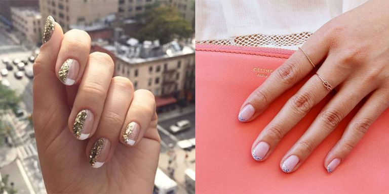 Best french manicure designs how to update a french manicure fear the french manicure no longer we rounded up the chicest ideas to reinvent the look prinsesfo Image collections